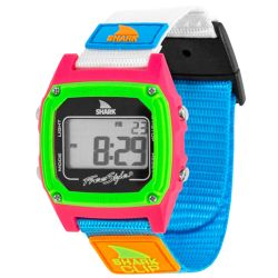 Freestyle Shark Classic Clip Water-Resistant Watch - Black/Neon