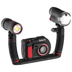 SeaLife DC2000 Pro 3000 Duo Set with Digital Underwater Camera, Photo-Video and Flash Dive Light, Tray and Two Flex-Connect Arms