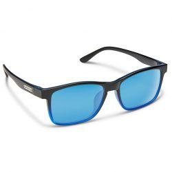 Suncloud Dexter Polarized Polycarbonate Sunglasses - Black Blue Fade/Blue Mirror