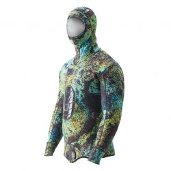 Riffe Digi-Tek Camo Wetsuit - 3.5mm Hooded Top