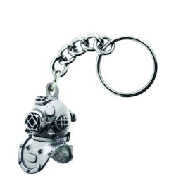 Sparta Pewter Hardhat Diver Key Chain