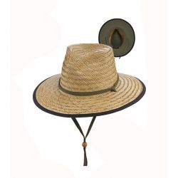 Dorfman Straw Lifegaurd Hat with Chin Cord