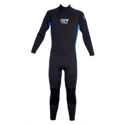 EVO 5/3 Men's Scuba Full Wetsuit - Black + Blue
