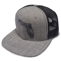 Flogrown Florida Leather Patch Trucker Hat