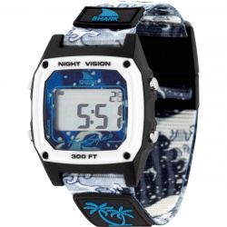 Freestyle Luke Davis Signature Shark Classic Clip Watch - White Wave