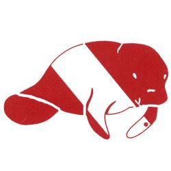 Innovative Scuba Concepts Manatee Die-Cut Sticker Decal