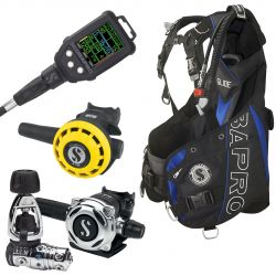 ScubaPro Glide Upgrade Scuba Gear Package (Men's) with MK25 EVO/A700 Regulator, R195 Octopus, Galileo Console