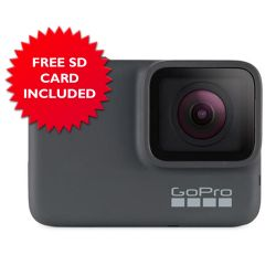GoPro Hero7 Silver 4K GPS-Enabled Action Camera with SD Card