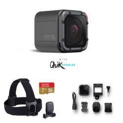 GoPro HERO5 Session Action Camera Bundle with Head Strap, Quick Clip and 16GB Memory Card