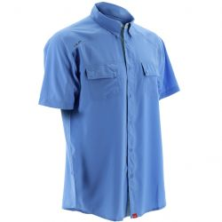 Huk Next Level Hybrid Button-Down +30 UPF Short-Sleeved Sunshirt (Men's)