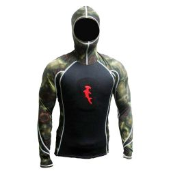 Hammerhead 1MM Ambush Long-Sleeved Spearfishing Hooded Rashguard with Loading Pad (Men's)
