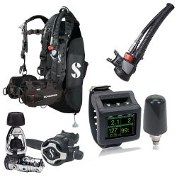 ScubaPro Hydros Pro Ultimate Scuba Gear Package (Men's) with MK25T EVO/S620 X-Ti Regulator, Air2 Inflator/Octo, Galileo 2 Wrist Dive Computer