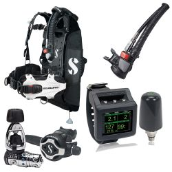 ScubaPro Hydros Pro Ultimate Scuba Gear Package (Women's) with MK25T EVO/S620 X-Ti Regulator, Air2 Inflator/Octo, Galileo 2 Wrist Dive Computer