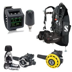 ScubaPro Hydros Pro Ultimate Octo Scuba Gear Package (Men's) with MK25T EVO/S620 X-Ti Regulator, R195 Octo, Galileo 2 Wrist Dive Computer