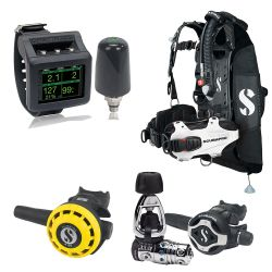 ScubaPro Hydros Pro Ultimate Octo Scuba Gear Package (Women's) with MK25T EVO/S620 X-Ti Regulator, R195 Octo, Galileo 2 Wrist Dive Computer