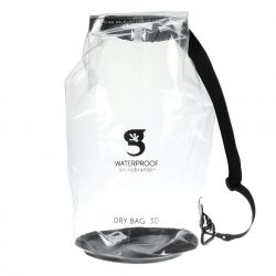 Gecko Clear 30L Polyurethane Dry Bag with Carabineer and Adjustable Shoulder Strap