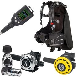 ScubaPro Knighthawk Scuba Package (Men's) with MK25 EVO/A700 Regulator, R195 Octopus, G2C Galileo Dive Computer Console