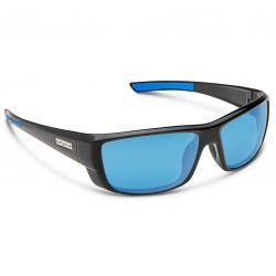 Suncloud Lock Polarized Polycarbonate Sunglasses - Black/Blue Mirror