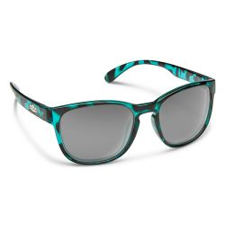 Suncloud Loveseat Polarized Polycarbonate Sunglasses (Women's) - Petrol Tortoise/Polar Gray