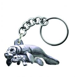 Sparta Pewter Manatee Baby Key Chain
