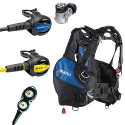 Mares Journey Prime Scuba Gear Package: Mares Prime BCD, Journey 15X Reg, Journey Octo, Mission 2 Console