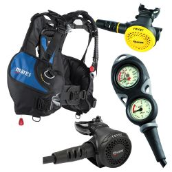 Mares Intro Scuba Gear Package: Prime Upgradable BCD/Rover 15x/Rover Octo/Mission 2 Gauge Console