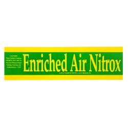Nitrox Sticker for Scuba Tanks