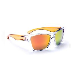 One Tag Kids Sunglasses - Crystal with Orange