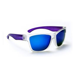 One Tag Kids Sunglasses - Crysral with Purple