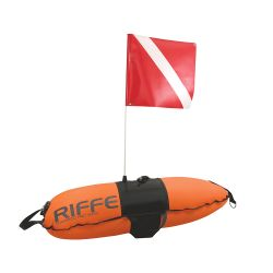Riffe 20L Torpedo Pro Float With Diver Down Flag
