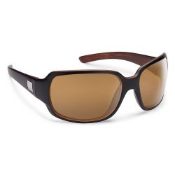 SunCloud Cookie Polarized Polycarbonate Sunglasses (Unisex) - MT Black Backpaint/Sienna Mirror