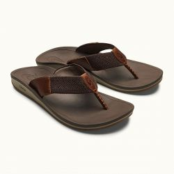OluKai Nohona Ulana Leather Sandals (Men's)