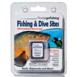 Florida Go Fishing GPS Fishing & Dive Sites Memory Card - Broward County