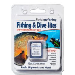 Florida Go Fishing GPS Fishing & Dive Sites Memory Card - Middle Florida Keys