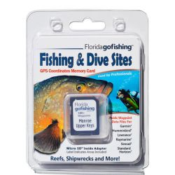 Florida Go Fishing GPS Fishing & Dive Sites Memory Card - Upper Florida Keys