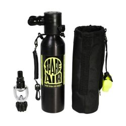 Spare Air 3000 6 cf Pony Bottle Package incl. Holster, Safety Leash, & Refill Adapter