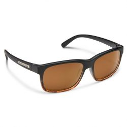 Suncloud Stand Polarized Polycarbonate Sunglasses - Black Tortoise Fade/ Brown