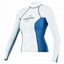 ScubaPro T-Flex UPF 80 Long-Sleeve Rashguard (Women's) - Blue/White