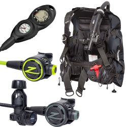 Zeagle Stiletto BCD Scuba Gear Package with F8 Regulator, F8 Octopus and Suunto Zoop Novo 2 Gauge