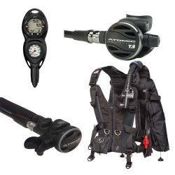 Zeagle Zena BCD SCUBA Package with Atomic Z3 and SS1 Titanium Octo, and Suunto Zoop Novo 2 Gauge Console Dive Computer (Women's)