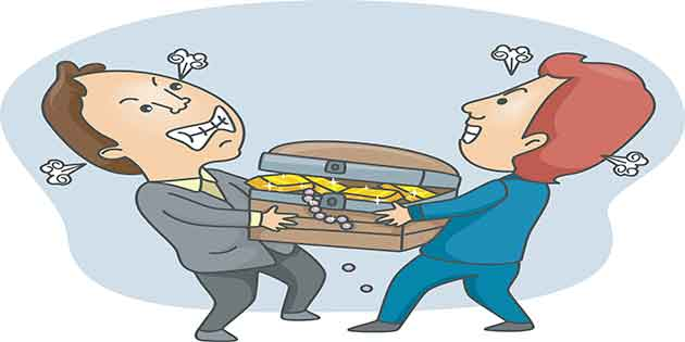 Family feuds can cause you to get behind and lose money