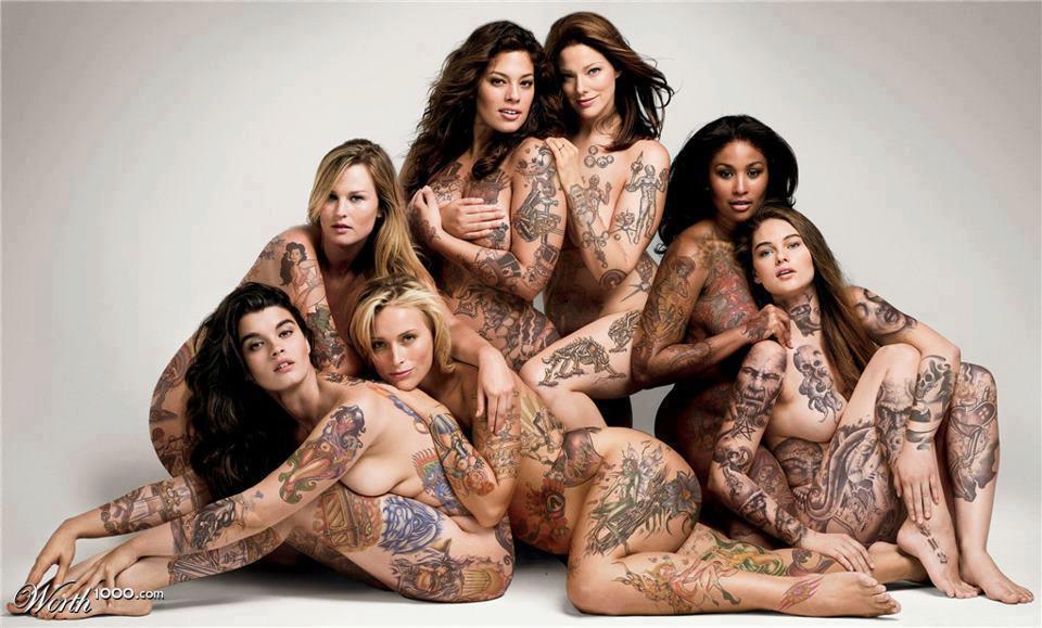 Not women full body tattoo nude