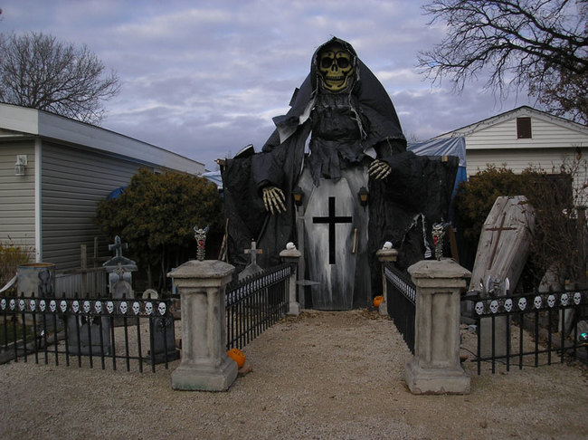 Image result for haunted house halloween decorations