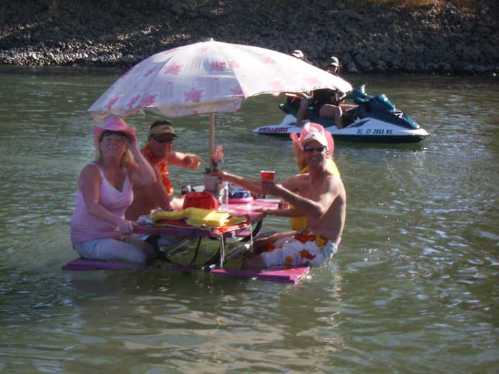 how to build a picnic table pontoon boat