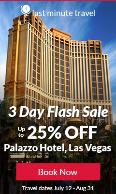 Palazzo Hotel, Las Vegas 3 days Flash sale - Up to 25% OFF - Exclusive Offer for Club members