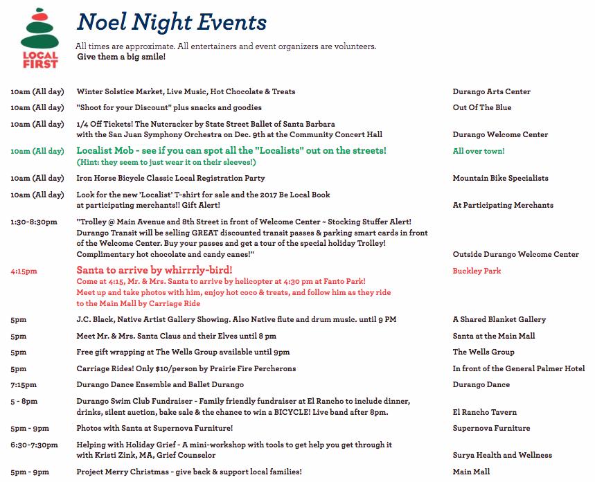 Noel Night Events