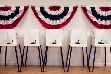 image of chairs at a polling place