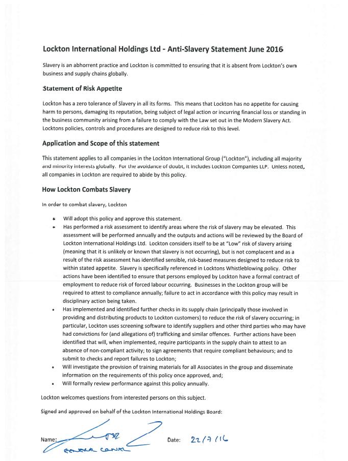 Uk Compliance Lockton Companies