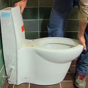 Western Toilet Installation