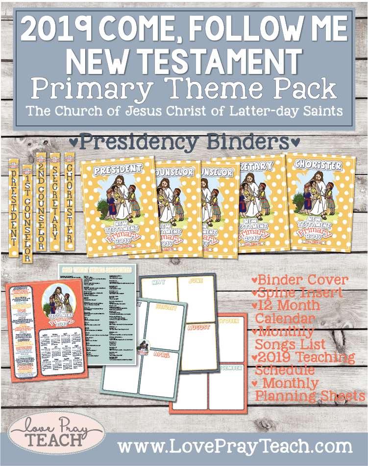 Come, Follow Me—For Primary: New Testament 2019 Download For Primary Presidency Binder Pack